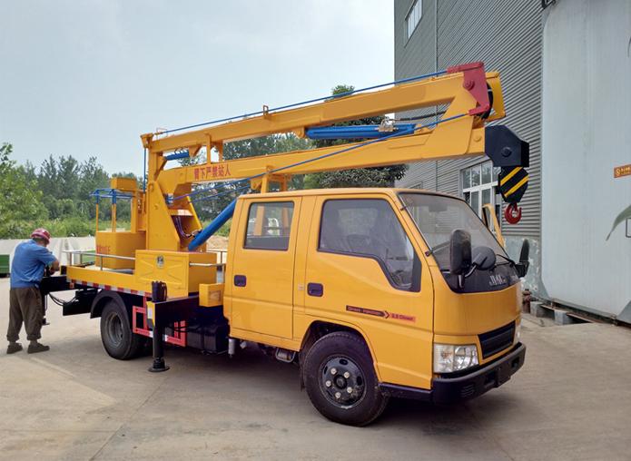 (12米 蓝牌)江铃双排折叠臂高空作业车