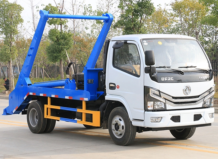 国六东风小多利卡 3~4方 摆臂垃圾车